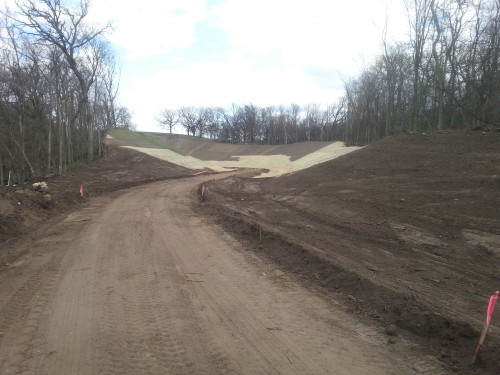 Mississippi River Regional Trail required some pretty substiantial earthwork.