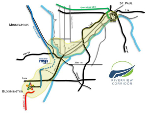 The Riverview Corridor Map.