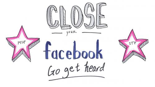 close your facebook