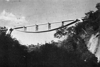 inverted suspension bridge