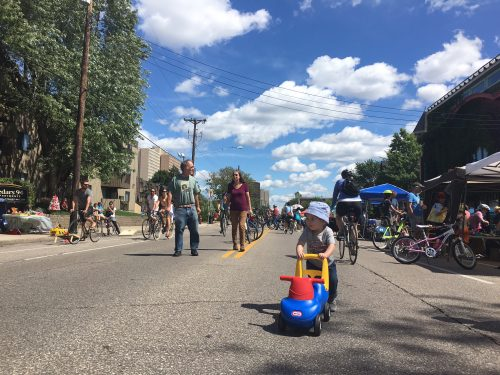 Scooter fun at Open Streets Franklin