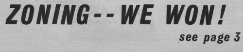 1975 Wedge neighborhood newspaper headline. We're gonna win so much on downzoning you're gonna get tired of winning.