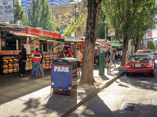 Portlanders have faced a choice of giving up their food trucks or becoming more active. They weren't going to give up their food trucks.