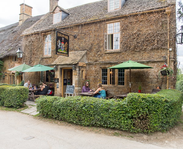 The Falkland Arms has limited exterior windows, but...