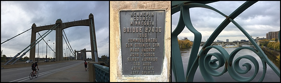 Details of Father Louis Hennepin Bridge