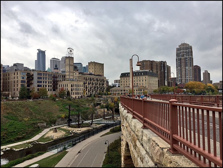 View of the Minneapolis skyline from St. Anthony Bridge
