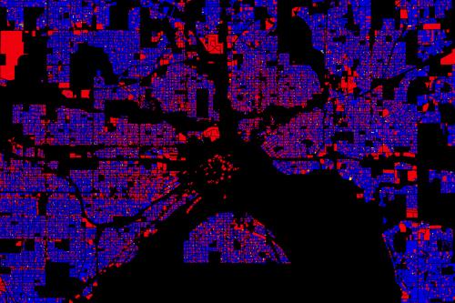 Homestead status in Saint Paul. Click to zoom.
