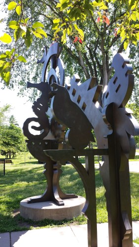 Sculptural Gateway at Armatage Park