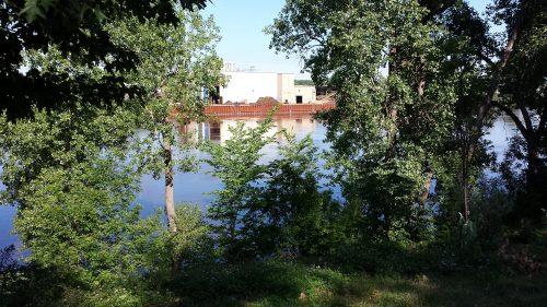 Glassy Mississippi Seen from Gluek Park