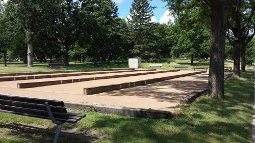 Four of the Six Bocce Courts in Beltrami Park