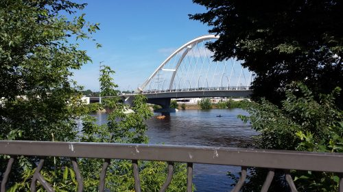 Lowry Avenue Bridge from Edgewater Park