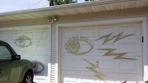 The Electric Garage Door Opener Makes it Roll its Eyes