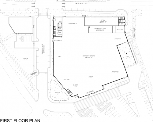 46th Street Development Site Plan/First Floor Plan