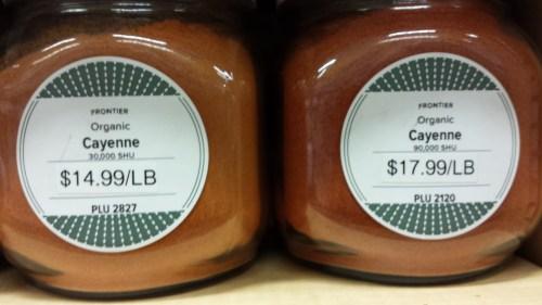 Organic Cayenne: 30,000 and 90,000 Scoville Heat Units