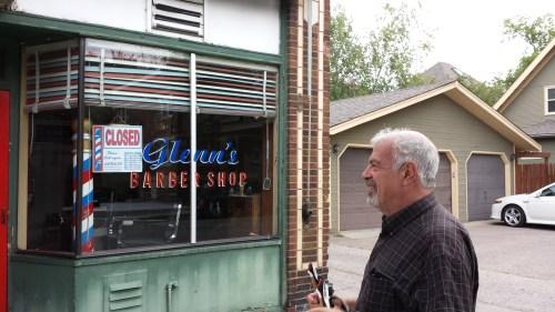 Jeremy Iggers at Glenn's Barber Shop, 814 W 36th St