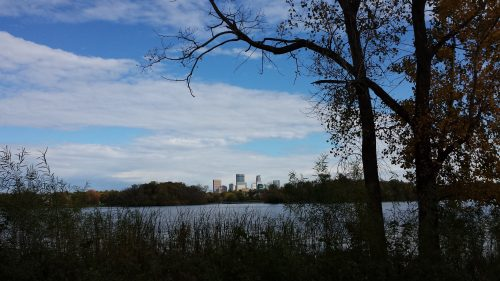 Lake of the Isles with the Downtown Skyline