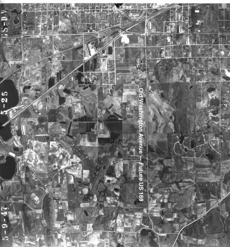 Nine Mile Creek Bridge neighborhoods in 1947