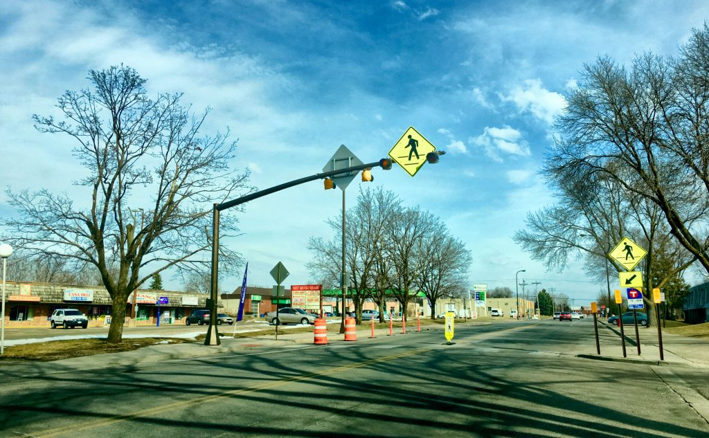 11th Avenue temporary pedestrian crossing improvements
