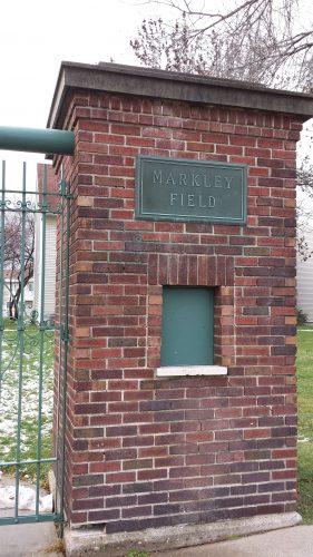 Markley Field (now Markley Square) Gateway Pillar