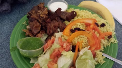 Half Order of Goat with Rice