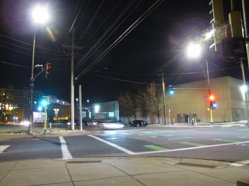 Warm White Streetlights being tested on Plymouth Ave.