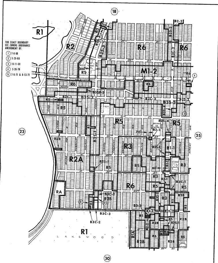Minneapolis Zoning Plate #24 from 1972