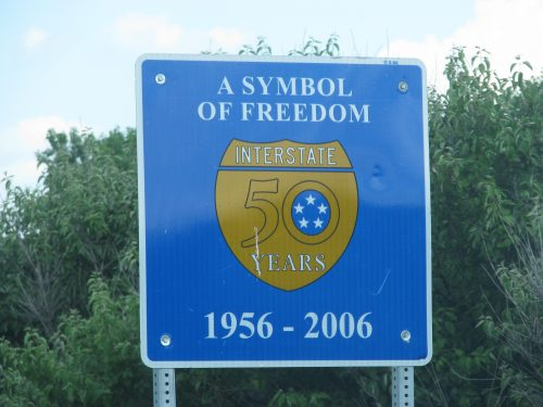Interstate Sign, A Symbol of Freedom