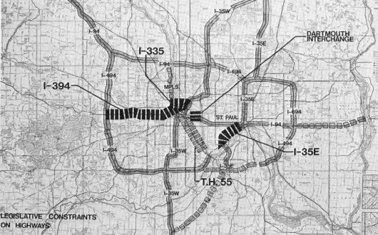 """Freeway Moratorium"" affected corridors"