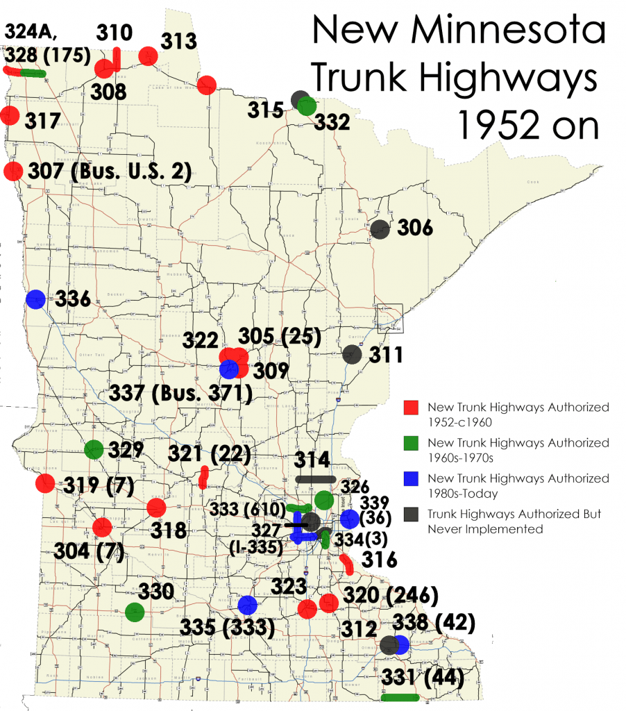 Minnesota Trunk Highways Since 1951