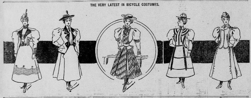 The Latest in Bicycle Costumes, St, Paul Daily Globe, 1897