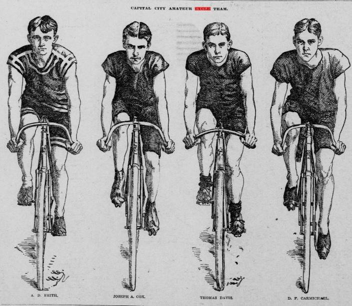 The Capital City Cycle Team, Saint Paul Globe, 1896