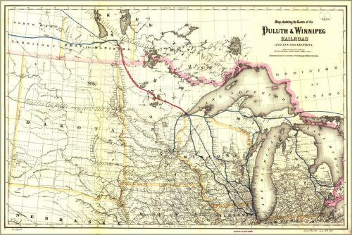 Duluth Winnipeg Railroad Map