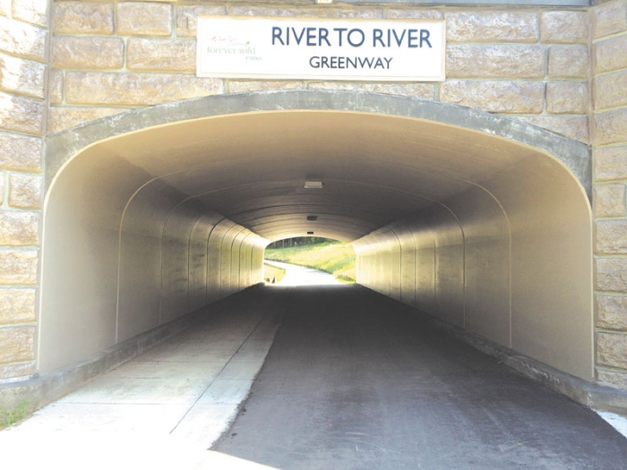 West Saint Paul Bike Trail Tunnel
