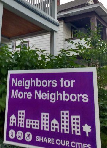 Neighbors for More Neighbors yardsign