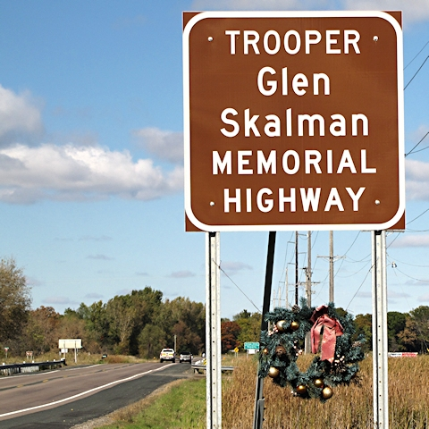 Skalman Memorial Highway Sign