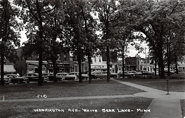 Washington Ave, White Bear Lake Postcard
