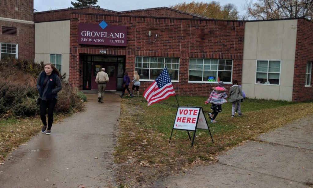 Figure 4. Photo of Groveland Recreation Center on election day, November 6, 2018.