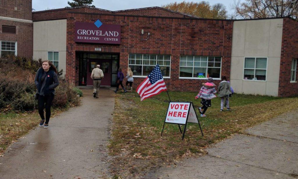 Figure 4. Photo of Groveland Recreation Center on election day, November 6, 2018.