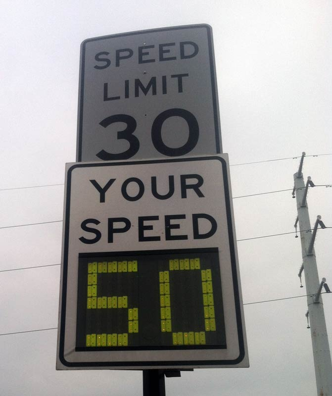 High Bridge Speed Sign