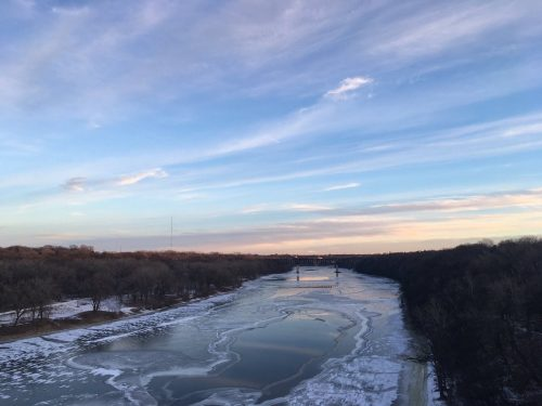 Mississippi River in Winter By Bike