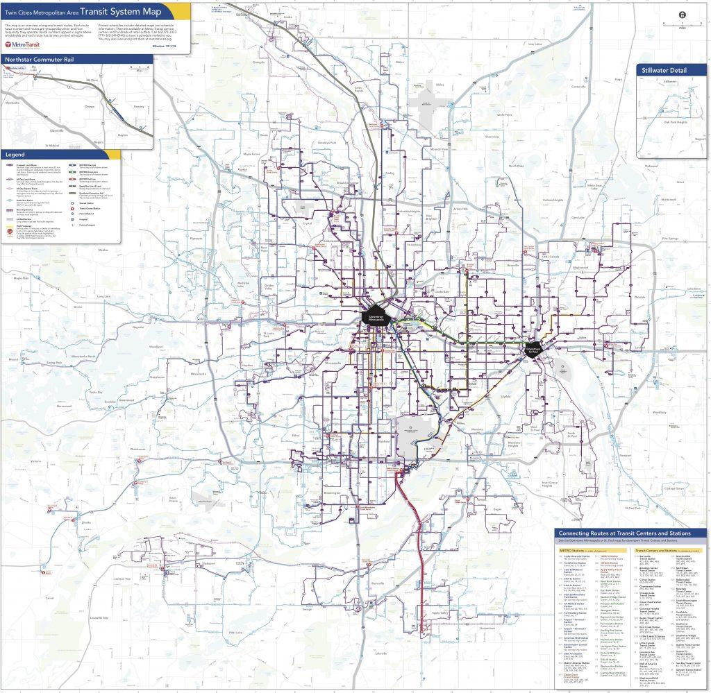 Minneapolis Saint Paul Transit System Map