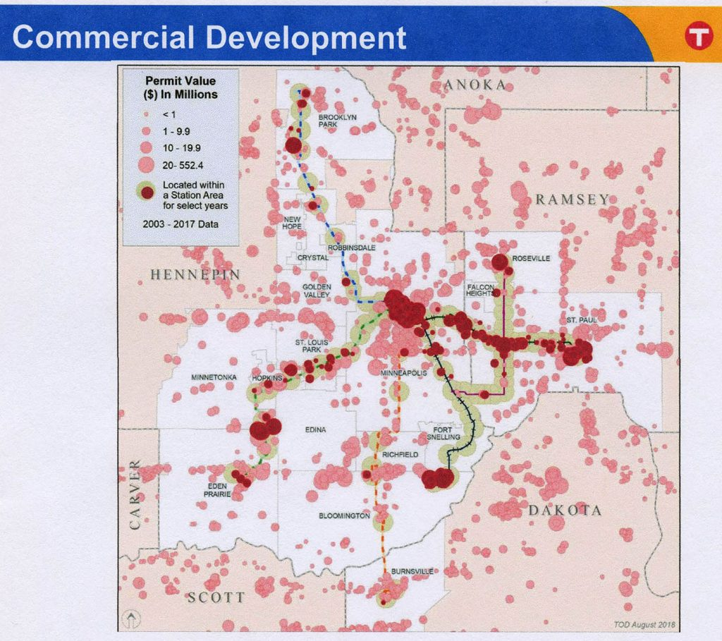 Commercial Development Permit Value, Near Transit Stations, 2003-2017