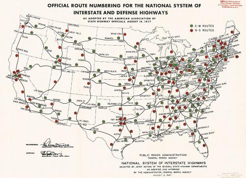 Interstate Highway Plan August 14, 1957 R