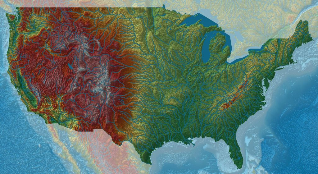Map Monday River Basins Of America Streetsmn - Map-of-us-elevation
