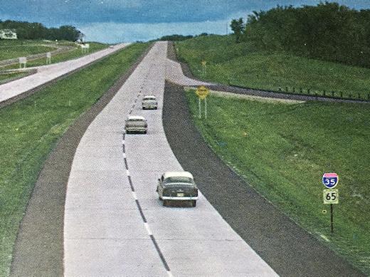 Interstate 35 at Medford