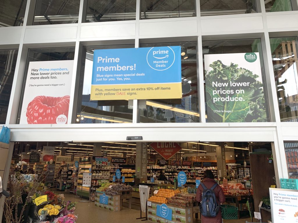 Whole Foods Entrance Signage