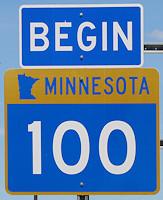 Highway 100 Sign