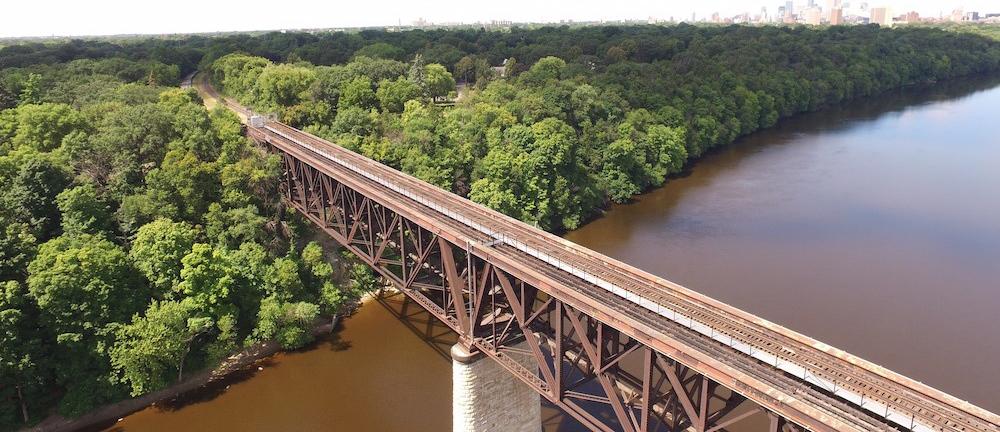 Shortline Bridge Above Big