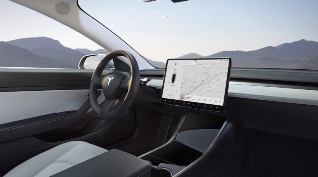Tesla Model 3 Entertainment Screen Console