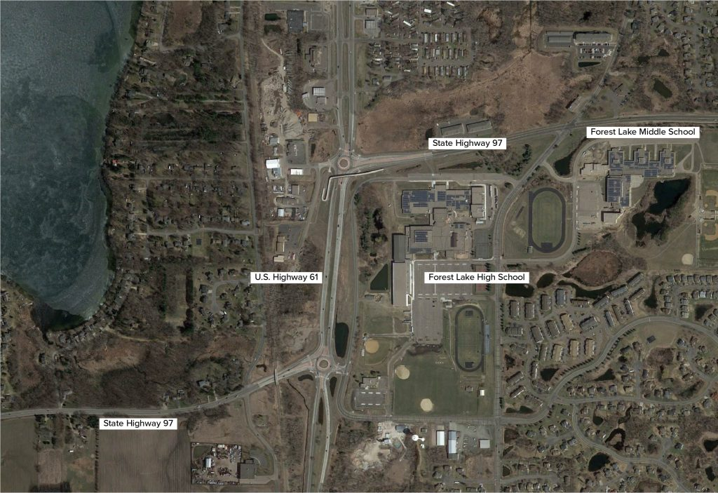 Forest Lake Roundabout Satellite Map